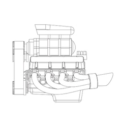 Hot Rod Engine vector image