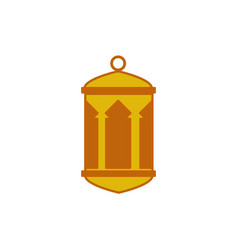 House pillars round top bottom hanging lantern vector