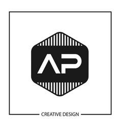 Initial letter ap logo template design vector