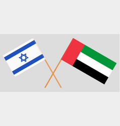Israel and united arab emirates flags vector