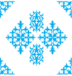 Kazakh national ornaments and patterns vector