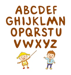 Kids school art boy abc alphabet aducation vector