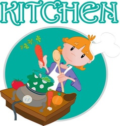 kitchen1 vector image