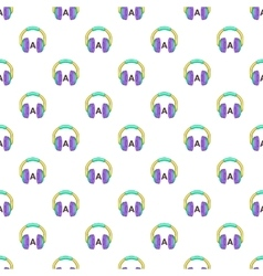 Language learning in headphones pattern vector