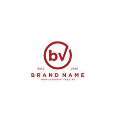 Letter bv logo design vector