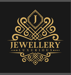 Letter j logo - classic luxurious style logo vector