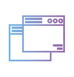 Line computer websites page technology vector
