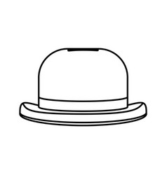 Line fashion hat object carnival style vector