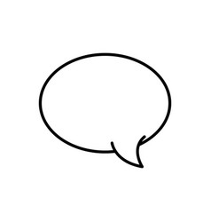 Line oval chat bubble art text message vector