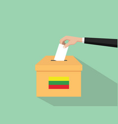 Lithuania vote election concept with vector