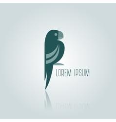 Logo blue Parrot vector