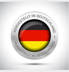 made in germany flag metal icon vector image