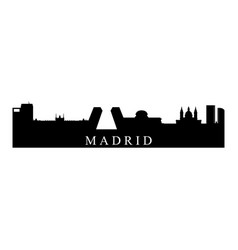 madrid skyline vector image