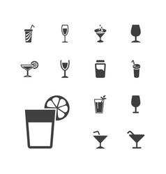 Martini icons vector