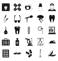Medico icons set simple style vector