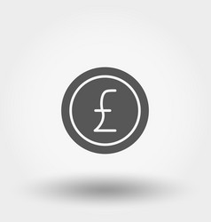 money sign coin pound vector image
