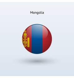 Mongolia round flag vector