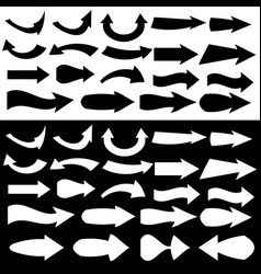 multiple black arrow icon sets vector image