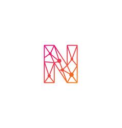 N letter network logo icon design vector