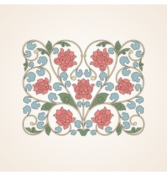 Ornamental floral element for design in China vector