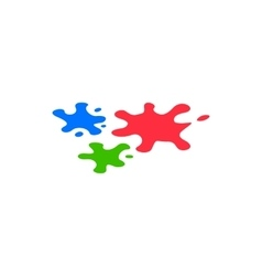 Paint blobs icon isometric 3d style vector