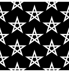Pentagram button seamless pattern vector image