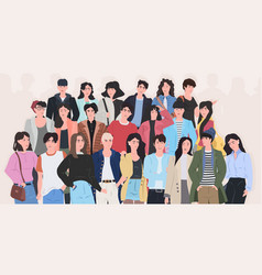 people group standing together attractive men vector image