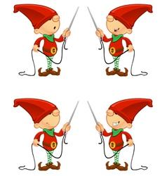 Red Elf Needle Thread vector