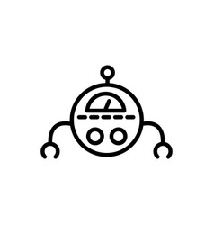 robot mechanic industry technology character vector image