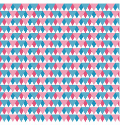 Seamless pattern blue red and white triangles vector