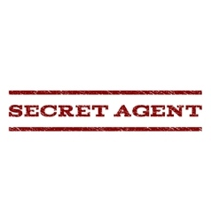Secret Agent Watermark Stamp vector