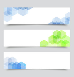 set medical banners or website headers eps 10 vector image