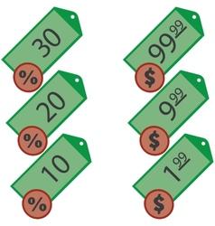 set of labels for shops vector image