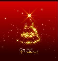 Shiny sparkles christmas tree design vector