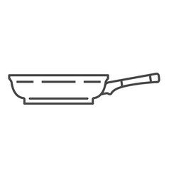 Side of griddle icon outline style vector