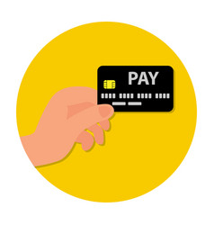 sign for card payment for vector image