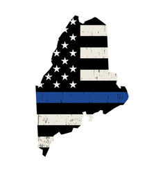 state maine police support flag vector image