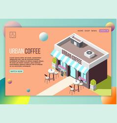 street coffee landing page vector image