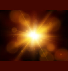 sun with lens flare vector image