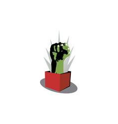 symbol created using raised fist vector image