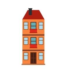 Three-storey house icon vector