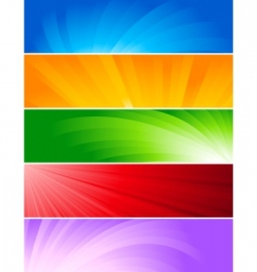 Vector set of colorful banners vector