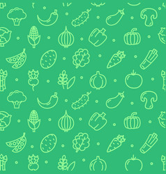 Vegetables food shop pattern background vector