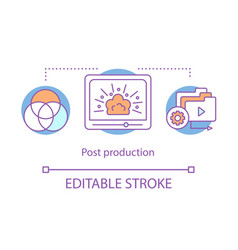 Video post production concept icon vector