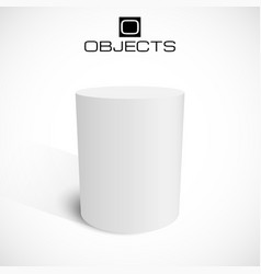 White 3d cylinder stand isolated on background vector image