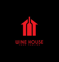 Wine house logo vector