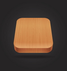 Wooden icon on black background vector