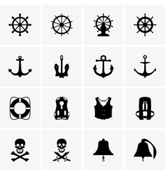 Anchors wheels and other vector image
