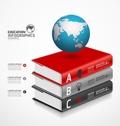 books infographic vector image vector image