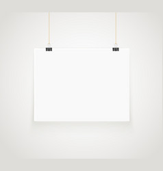 bright frame on the wall photoreal picture frame vector image